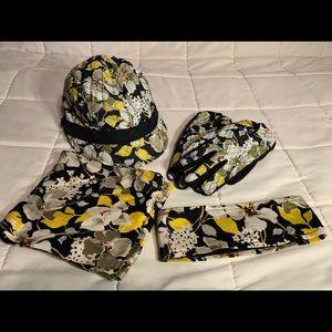 Vera Bradley winter accessories set in Dogwood